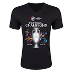Portugal UEFA Euro 2016 Champions V-Neck T-Shirt (Black)