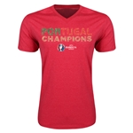 Portugal UEFA Euro 2016 Champions V-Neck T-Shirt (Heather Red)