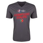 Portugal UEFA Euro 2016 Champions V-Neck T-Shirt (Dark Gray)
