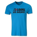 Chapulin Los Buenos V-Neck T-Shirt (Heather Turquoise)