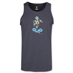 1990 FIFA World Cup Ciao Mascot Tank Top (Dark Gray)