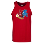 2002 FIFA World Cup Kaz & Nik Mascot Tank Top (Red)