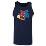 2002 FIFA World Cup Kaz & Nik Mascot Tank Top (Navy)