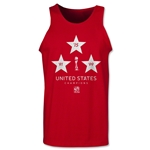 USA FIFA Women's World Cup Champions Tank Top (Red)