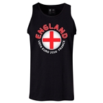 England Euro 2016 Fashion Tank Top (Black)