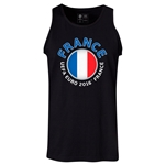 France Euro 2016 Fashion Tank Top (Black)