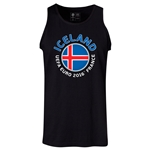 Iceland Euro 2016 Fashion Tank Top (Black)