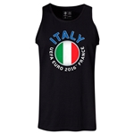 Italy Euro 2016 Fashion Tank Top (Black)