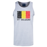 Belgium Euro 2016 Fashion Tank Top (Ash)
