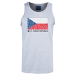 Czech Republic Euro 2016 Fashion Tank Top (Ash)