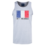 France Euro 2016 Fashion Tank Top (Ash)