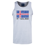 Iceland Euro 2016 Fashion Tank Top (Ash)