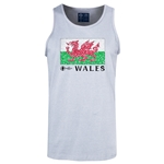 Wales Euro 2016 Fashion Tank Top (Ash)
