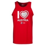 Austria Euro 2016 Heart Tank Top (Red)