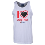 Austria Euro 2016 Heart Tank Top (White)