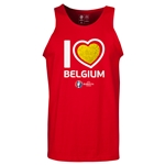 Belgium Euro 2016 Heart Tank Top (Red)