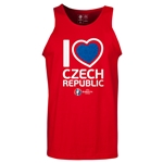 Czech Republic Euro 2016 Heart Tank Top (Red)