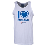 England Euro 2016 Heart Tank Top (White)