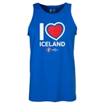 Iceland Euro 2016 Heart Tank Top (Royal)