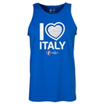 Italy Euro 2016 Heart Tank Top (Royal)