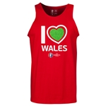 Wales Euro 2016 Heart Tank Top (Red)