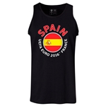 Spain Euro 2016 Fashion Tank Top (Black)