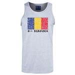 Romania Euro 2016 Fashion Tank Top (Ash)