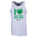 Northern Ireland Euro 2016 Heart Tank Top (White)