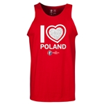 Poland Euro 2016 Heart Tank Top (Red)