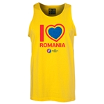 Romania Euro 2016 Heart Tank Top (Yellow)