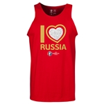 Russia Euro 2016 Heart Tank Top (Red)
