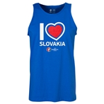 Slovakia Euro 2016 Heart Tank Top (Royal)