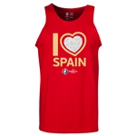 Spain Euro 2016 Heart Tank Top (Red)