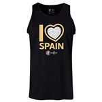 Spain Euro 2016 Heart Tank Top (Black)