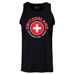 Switzerland Euro 2016 Fashion Tank Top (Black)