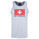 Switzerland Euro 2016 Fashion Tank Top (Ash)