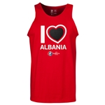 Albania Euro 2016 Heart Tank Top (Red)