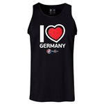 Germany Euro 2016 Heart Tank Top (Black)