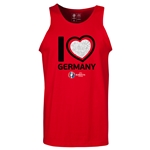 Germany Euro 2016 Heart Tank Top (Red)