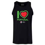Portugal Euro 2016 Heart Tank Top (Black)