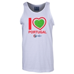 Portugal Euro 2016 Heart Tank Top (White)