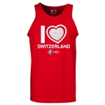 Switzerland Euro 2016 Heart Tank Top (Red)