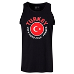 Turkey Euro 2016 Fashion Tank Top (Black)