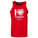 Turkey Euro 2016 Heart Tank Top (Red)