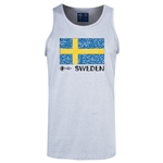 Sweden Euro 2016 Fashion Tank Top (Ash)