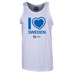 Sweden Euro 2016 Heart Tank Top (White)