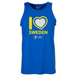 Sweden Euro 2016 Heart Tank Top (Royal)