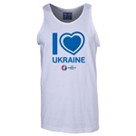 Ukraine Euro 2016 Heart Tank Top (White)