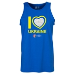 Ukraine Euro 2016 Heart Tank Top (Royal)