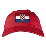 Croatia Unstructured Adjustable Cap (Red)